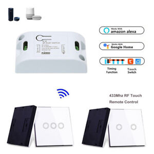 Details about WIFI RF Smart Timer Switch Relay Module 433Mhz Glass Touch  Remote f Amazon Alexa