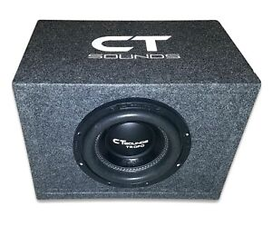 CT Sounds Single Tropo 8 in 400W True RMS Subwoofer Bass Package with Ported Box