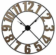 "Colossal Sized Retro Shabby Chic Wall Clock. 80cm Diameter (31"" +) 7233"