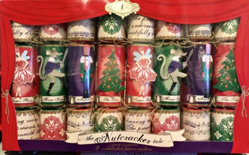 Meri Meri The Nutcracker Tale Embellished Christmas Crackers Set of 8 NIB NEW