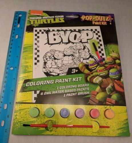 Nickelodeon Teenage Mutant Ninja Turtles Pop-Outz Coloring Paint Kit 1-Picture