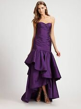 12222b9671d item 2 ML Monique Lhuillier Plum Purple Strapless High low Taffeta Mermaid  Gown Size 14 -ML Monique Lhuillier Plum Purple Strapless High low Taffeta  Mermaid ...