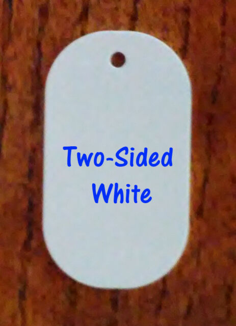 """Aluminum Key Chain Blanks 50 Pieces TWO SIDED WHITE Dye Sublimation 1.6/"""" X 2.25"""
