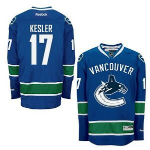 official photos 506e8 86066 Details about RYAN KESLER Vancouver Canucks Home Reebok Premier WOMENS NHL  Jersey S to XXL