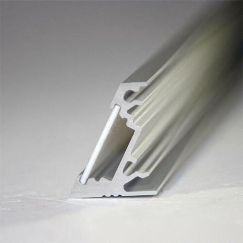 1m LED ALU Winkel Profil 60° mit Abdeckung weiß Aluminiumprofil für LEDs