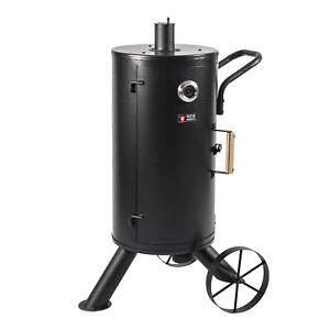 Raeucherofen-B-Ware-Smoker-BBQ-Ofen-Grill-Raeuchertonne-Edelstahlthermometer-mobil