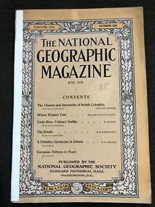 1910-06-JUNE-NATIONAL-GEOGRAPHIC-BC-CANADA-GLACIERS-FINLAND-COSTA-RICA-PEARY