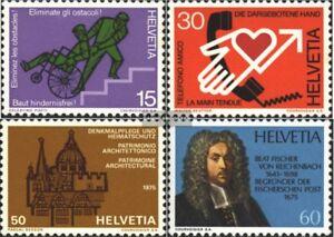 Schweiz-1058-1061-kompl-Ausg-gestempelt-1975-Jahresereignisse