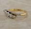 Vintage-18ct-yellow-gold-platinum-diamond-5-stone-ring-size-L thumbnail 1