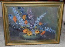 Vintage Original Impressionist Still Life Signed and Dated 1923 Oil On Board