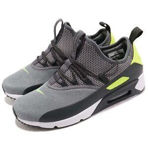 Nike-Air-Max-90-EZ-Dark-Grey-Volt-White-Men-Running-Shoes-Sneakers-AO1745-003