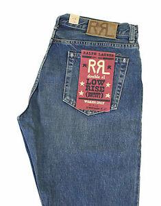 Jeans 31 Donna Vita Lauren Denim Rrl Bassa Tessuto Svasati Ralph X Sanforizzato 1vqw1pz