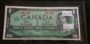 Canada-1967-1-Dollar-UNC-1867-1967-Confederation-Commemorative-Banknote