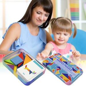 Magic-Holz-Variable-Puzzle-Tangram-Gehirn-Teaser-Kid-Lernspiel-Puzzle-Spielzeug