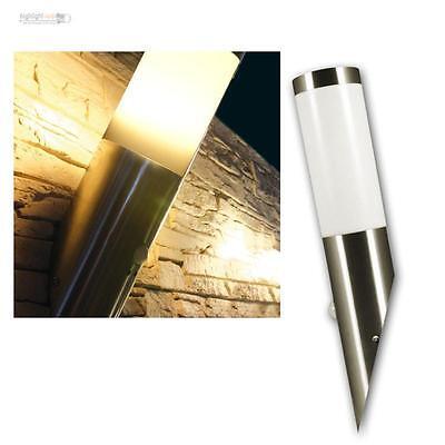 Außenlampe Wandleuchte Edelstahl Bewegungsmelder IP-44 LED Birne E27 3W-10W
