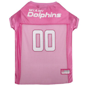 Miami-Dolphins-Licensed-NFL-Pets-First-Dog-Pet-Mesh-Pink-Jersey-Sizes-XS-L