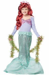 Brand New Little Mermaid Ariel Sea Princess Dress Up Child Halloween Costume