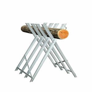 Sägebock Kettensäge klappbar Metall Holzsägebock 150KG Zahnung Holz