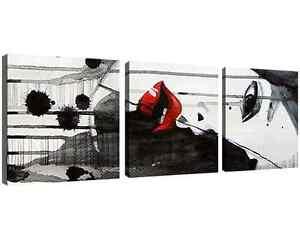 Quadro-Moderno-Stampa-su-Tela-Cm-150x50-Arredamento-Arredo-Arte-Casa-3-Pz-Donna