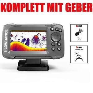 Lowrance-Ecoscandaglio-GPS-con-Cavo-Rilevatore-Pesci-Sonar-Fishfinder-4x-GPS