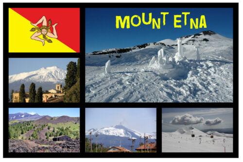 Souvenir Neuheit Kühlschrank-magnet Mount Etna,Sizilien