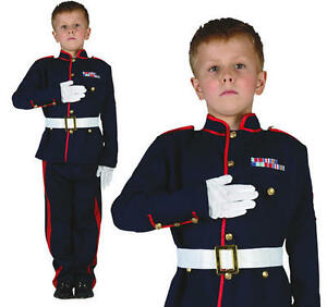Childrens Ceremonial Soldado Fancy Dress Costume Militar Ejército Traje Childs S 							 							</span>
