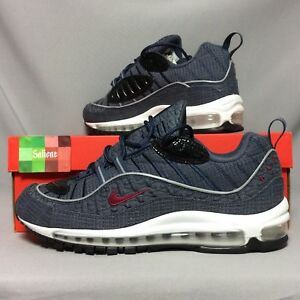 new concept d1406 51a49 Details about Nike Air Max 98 QS UK9 924462-400 EUR44 US10 thunder blue AOP  red 1 quickstrike