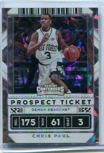 2020 Panini Contenders Draft Picks Chris Paul Cracked Ice Prospect Ticket #/23