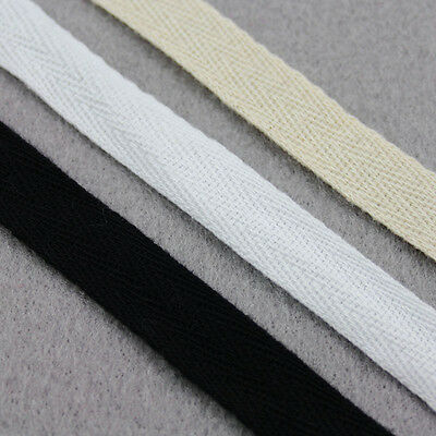 TWILL TAPE *3 COLOURS*8 WIDTHS* SEWING WEBBING LIGHT COTTON BUNTING APRONS STRAP