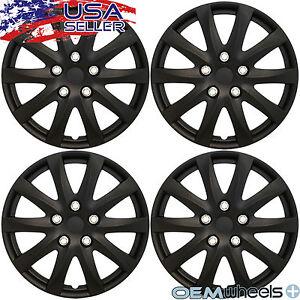 """4 New Matte Black 15/"""" Hubcaps Fits Volkswagen VW Steel Wheel Covers Set Hubcaps"""