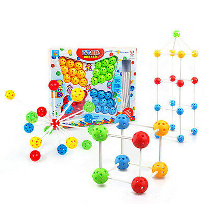 Creative Kid Baby Child DIY Puzzle Inserted Building Blocks Educational Toys New