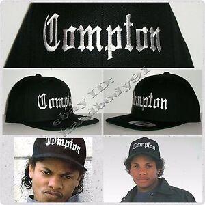 NEW Black Eazy E Compton Snapback Hat Cap NWA Straight Outta ... 7640f3ba323