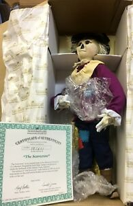 "Other Dolls Porcelain Doll ""the Scarecrow"" From Wizard Of Oz Collection W/coa Spare No Cost At Any Cost Ashton Drake"
