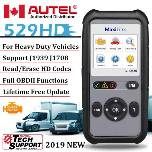 Autel ML529HD Heavy Duty Truck Diesel Scanner Code Reader OBD2 Diagnostic Tool