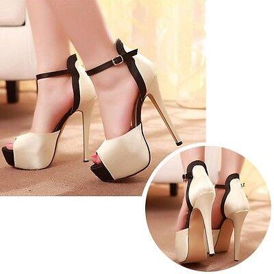 New Ladies Women Platform Stiletto High Heels Belt Buckle Peep Toe Shoes Sandals