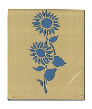Le Suh Prägeschablone Embossingschablone Schablone Metall Sonnenblumen (571004)
