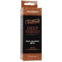 Good Head Throat Spray Cinnamon 2oz - Suppress Gag Reflex Oral Enhancer