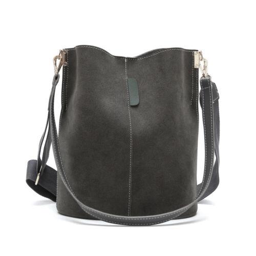 Women Large Bucket Bag Lady Leathers Messenger Shoulder Handbag Tote Summer