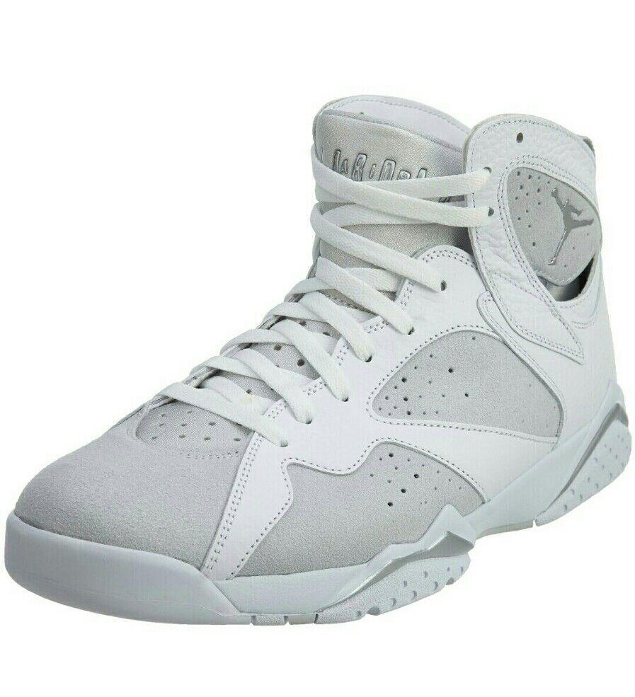 Nike Air Jordan 7 Retro Pure Money White/Metallic Silver Shoes 304775-120
