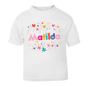 c2a6cd4e286bb Details about Personalised Name Children's T-shirt Boys T-shirt Girls Tops  Custom Tops
