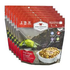 (6) Wise Food ~ Camping Outdoor Pouches CHILI MAC WITH BEEF, Emergency Survival
