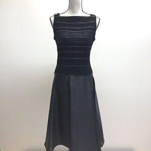 20ea4550847 Details about Vintage Tadashi Petites Black Fit   Flare Evening Gown Size  12 Petite