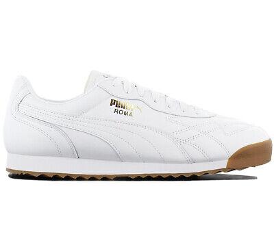 Gewidmet Puma Roma Anniversario Sneaker 366673-03 Leder Weiß Retro Schuhe Turnschuhe Neu