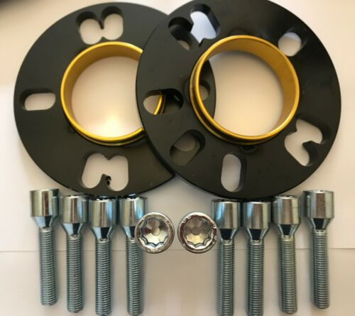 10 x M14X1.5 BULLONI sintonizzatore si adattano Audi 5X100 57.1 Distanziatore Ruota in Lega Nero 10 mm x 2