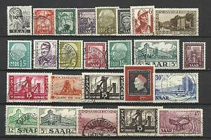 GERMANY-SAAR-STAMP-COLLECTION-amp-PACKET-of-25-DIFFERENT-Stamps-Used