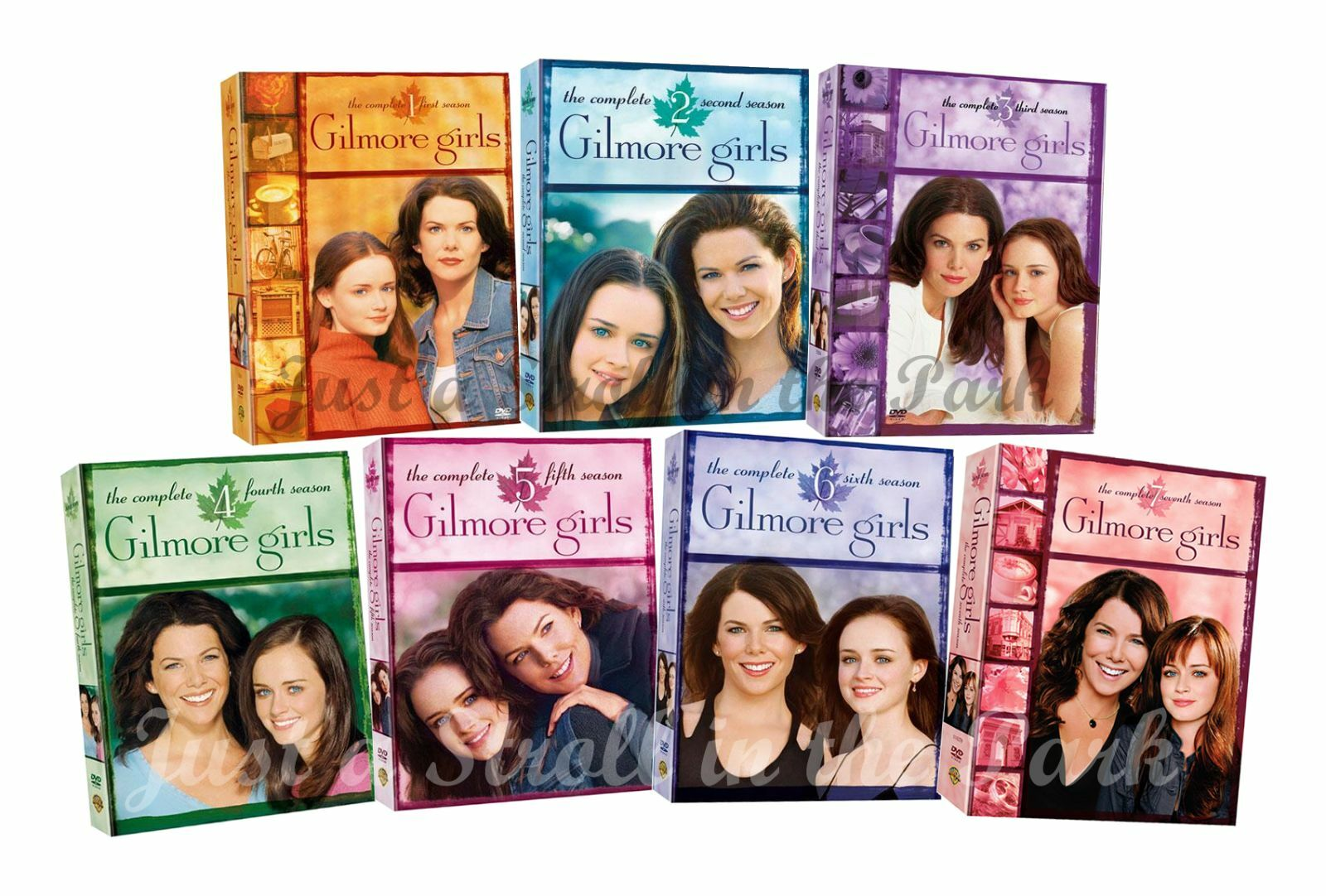 gilmore girls complete series season 1 2 3 4 5 6 7 box dvd set s new. Black Bedroom Furniture Sets. Home Design Ideas