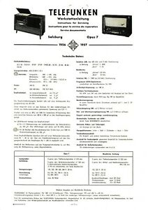 Service Manual Instructions for Tele Radio Opus Ts