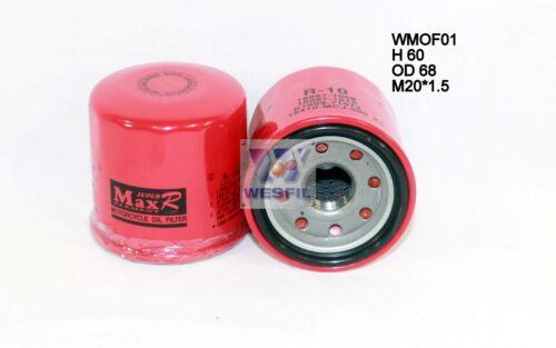 WESFIL OIL FILTER FOR Moto Moto KAWASAKI VN1600 VULCAN CLASSIC 2003-2006 WMOF01