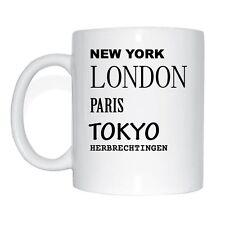New York, Londra, Paris, Tokyo, HERBRECHTINGEN tazza caffè