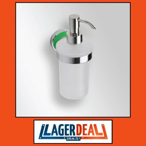 Glasseifenspender 80x180x100mm de latón cromado//verde badartikel accesorios campamento deal